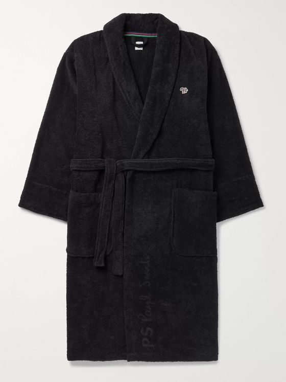 Paul Smith Belted Appliquéd Cotton-Terry Robe
