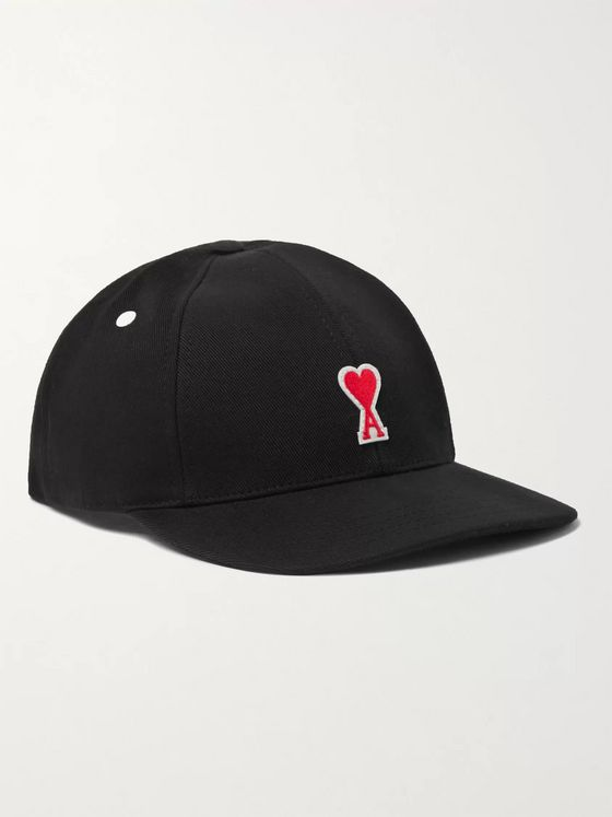 AMI PARIS Logo-Appliquéd Cotton-Twill Baseball Cap