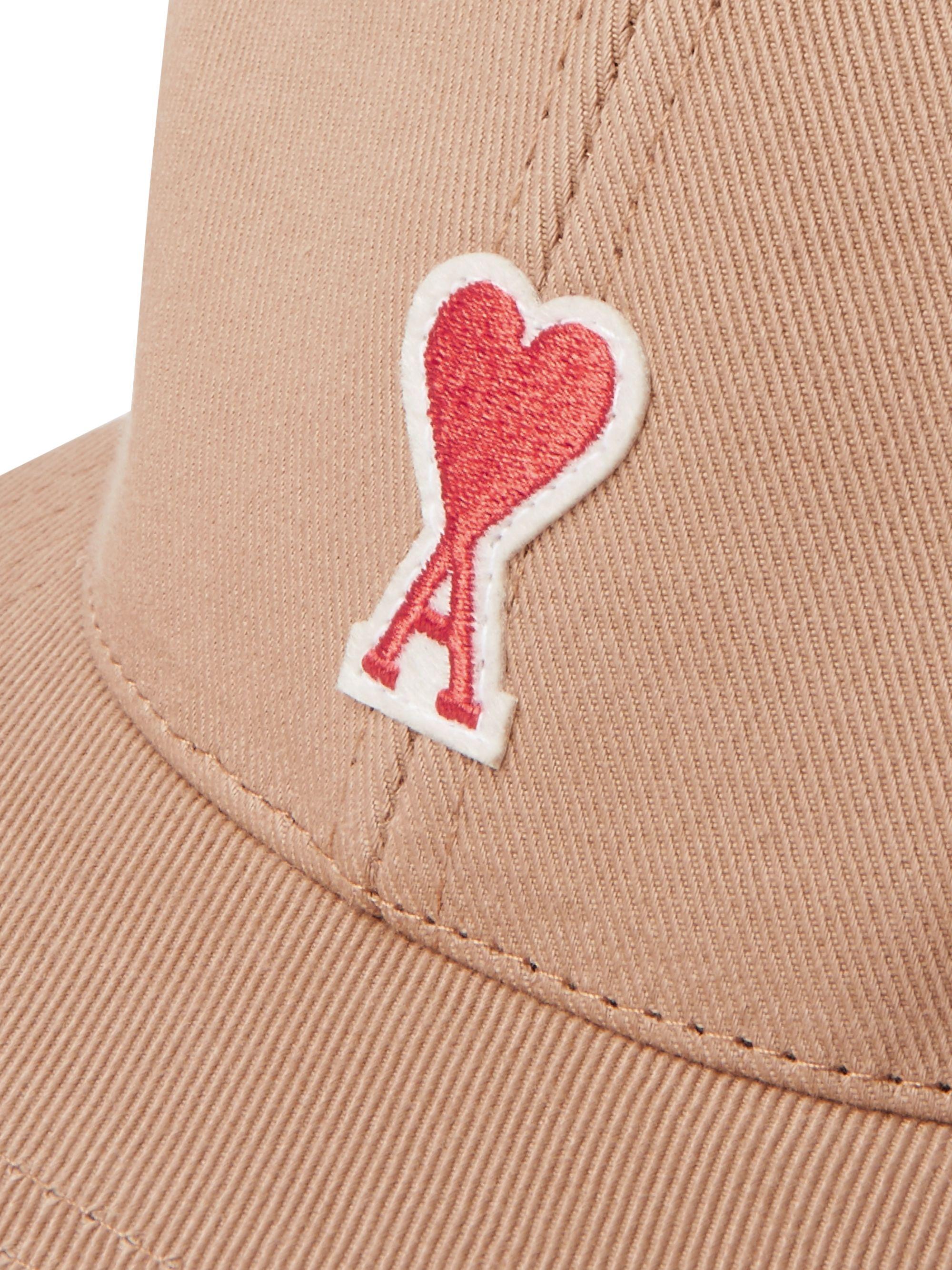Beige Logo-appliquéd Cotton-twill Baseball Cap   Ami
