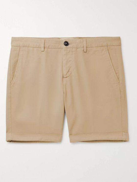 AMI PARIS Cotton-Twill Bermuda Shorts