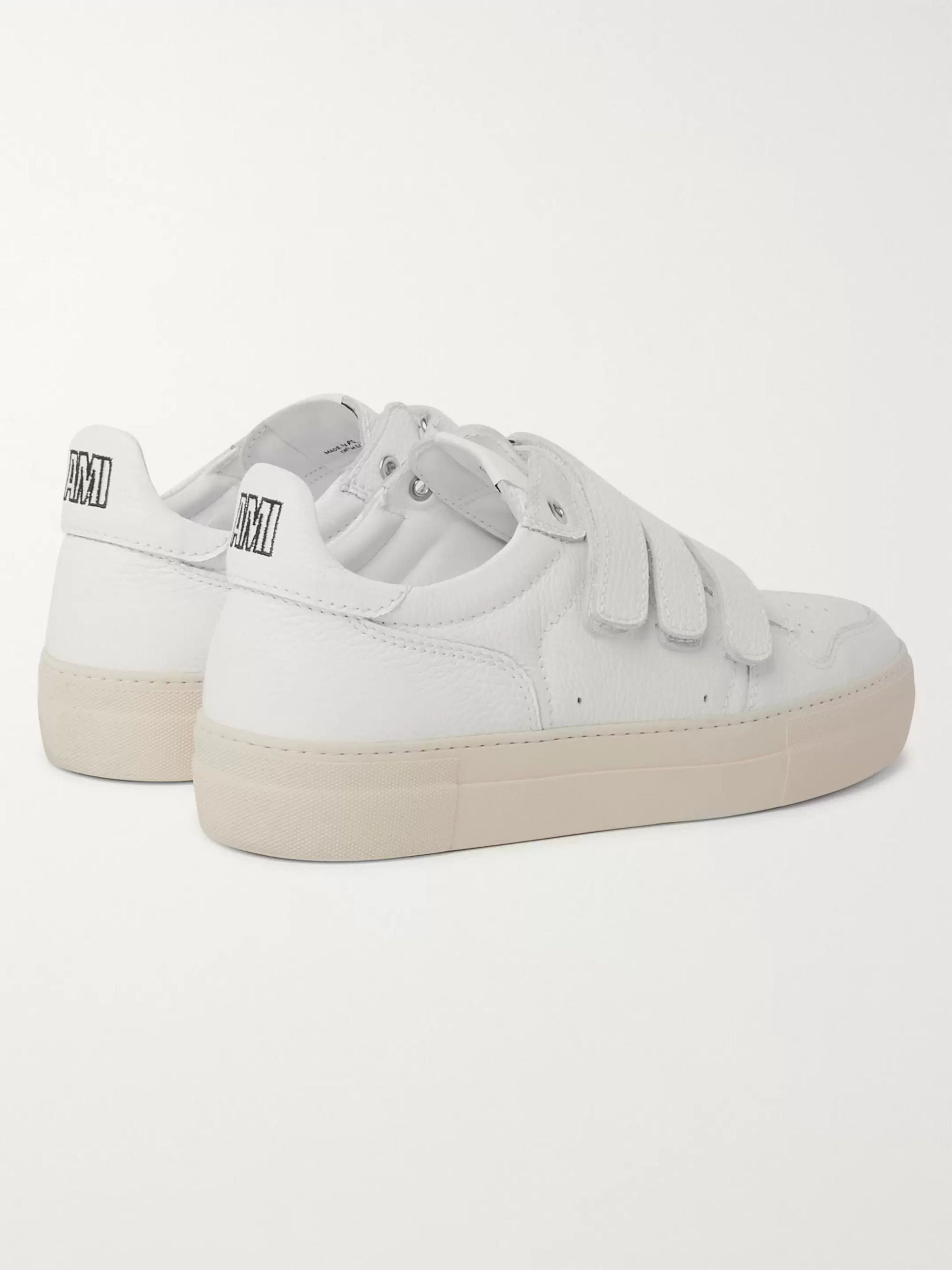 AMI Full-Grain Leather Sneakers