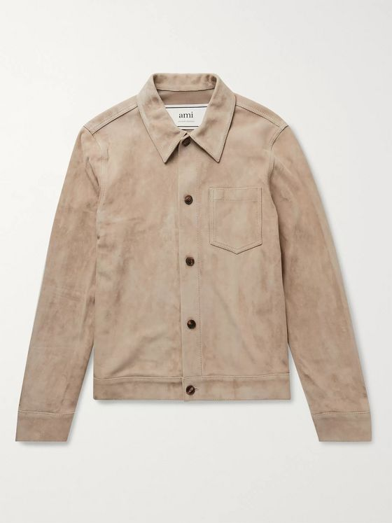 AMI PARIS Suede Overshirt