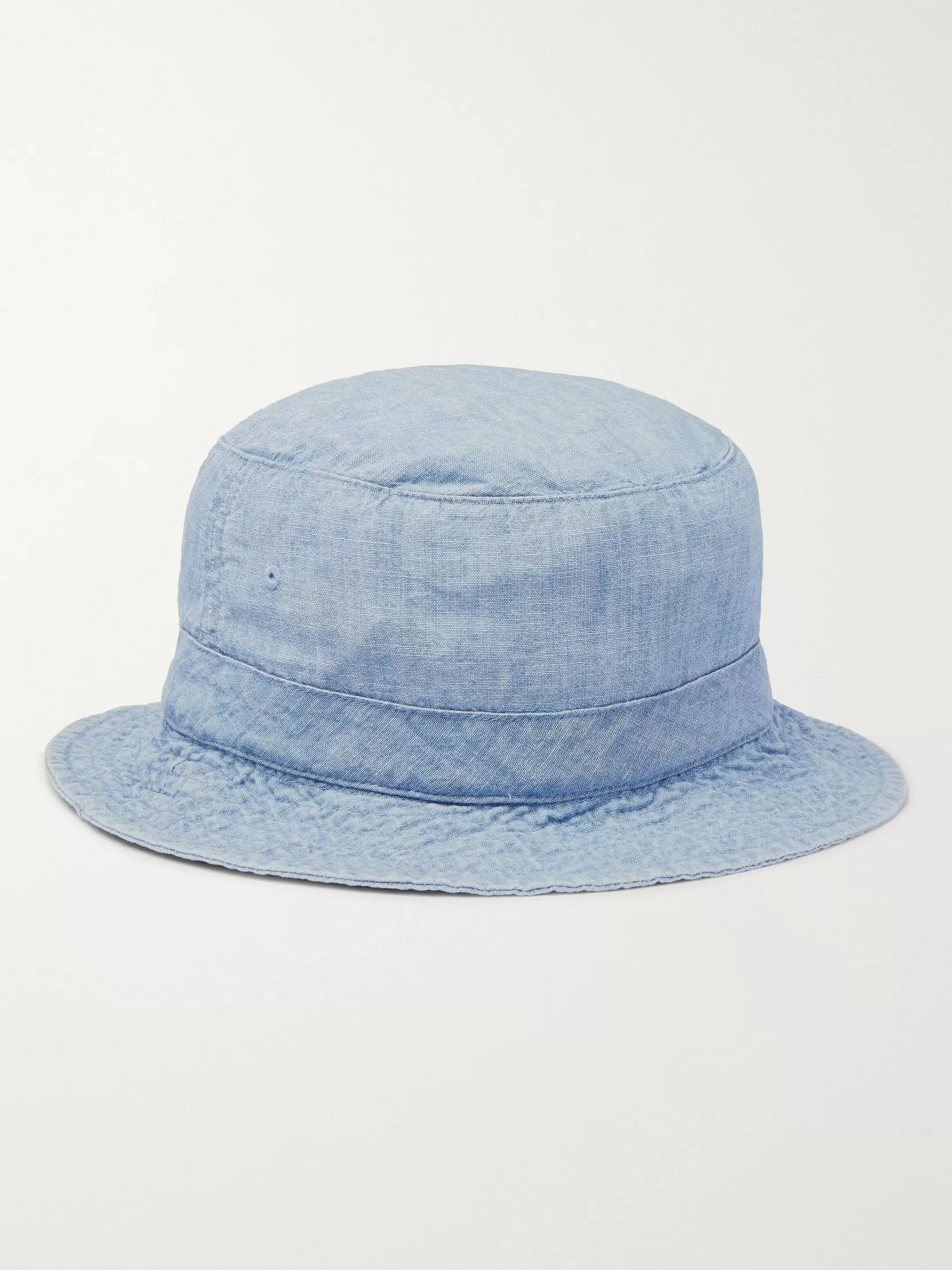 Polo Ralph Lauren Loft Logo-Embroidered Cotton-Chambray Bucket Hat