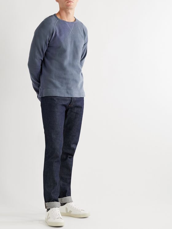 Officine Generale Camille Garment-Dyed Fleece-Back Cotton-Jersey Sweatshirt