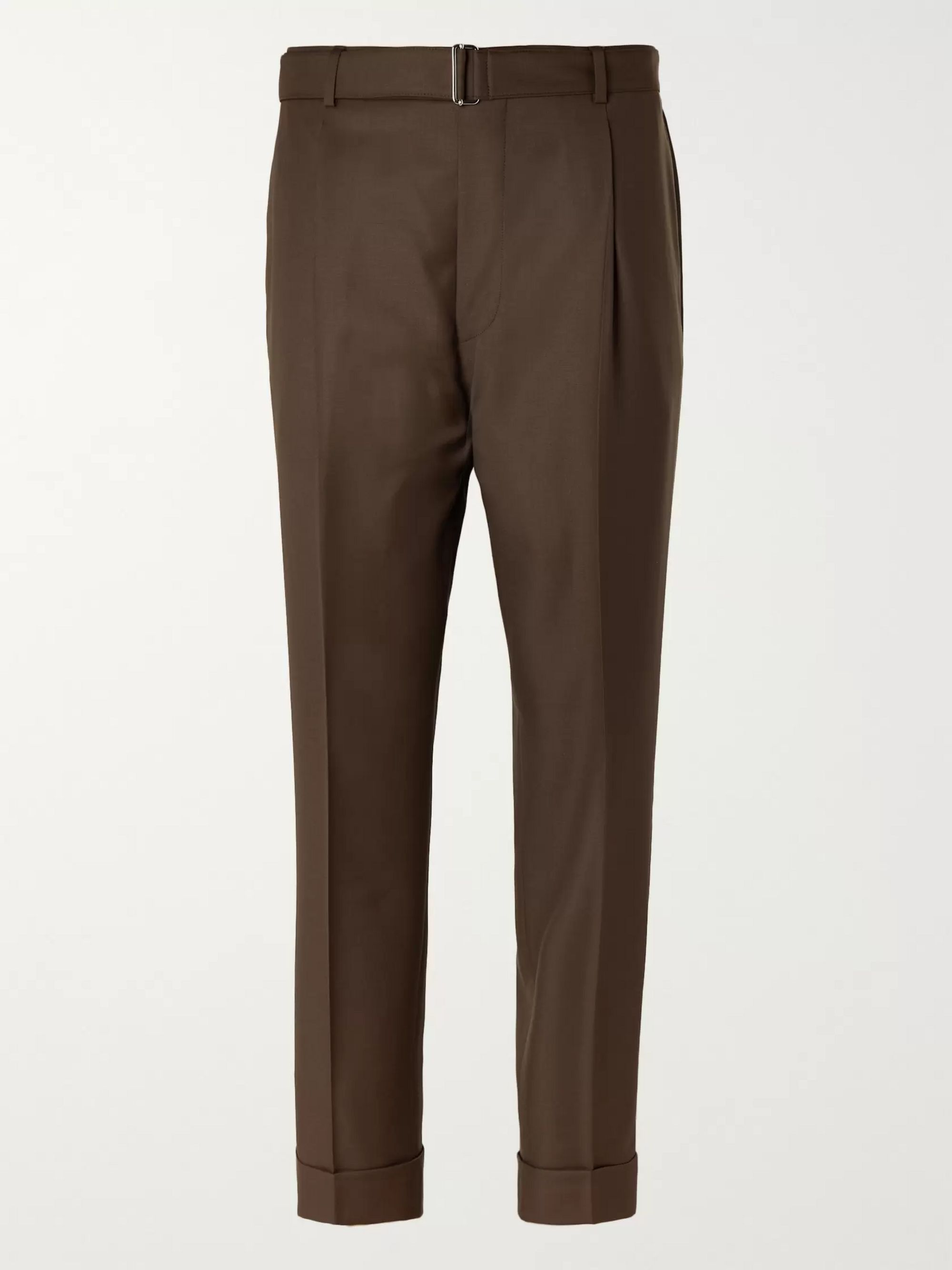 Officine Générale Hugo Tapered Pleated Wool Trousers