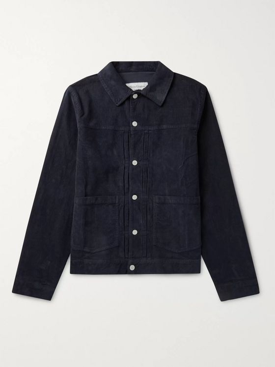 Officine Generale Leo Cotton-Blend Corduroy Trucker Jacket