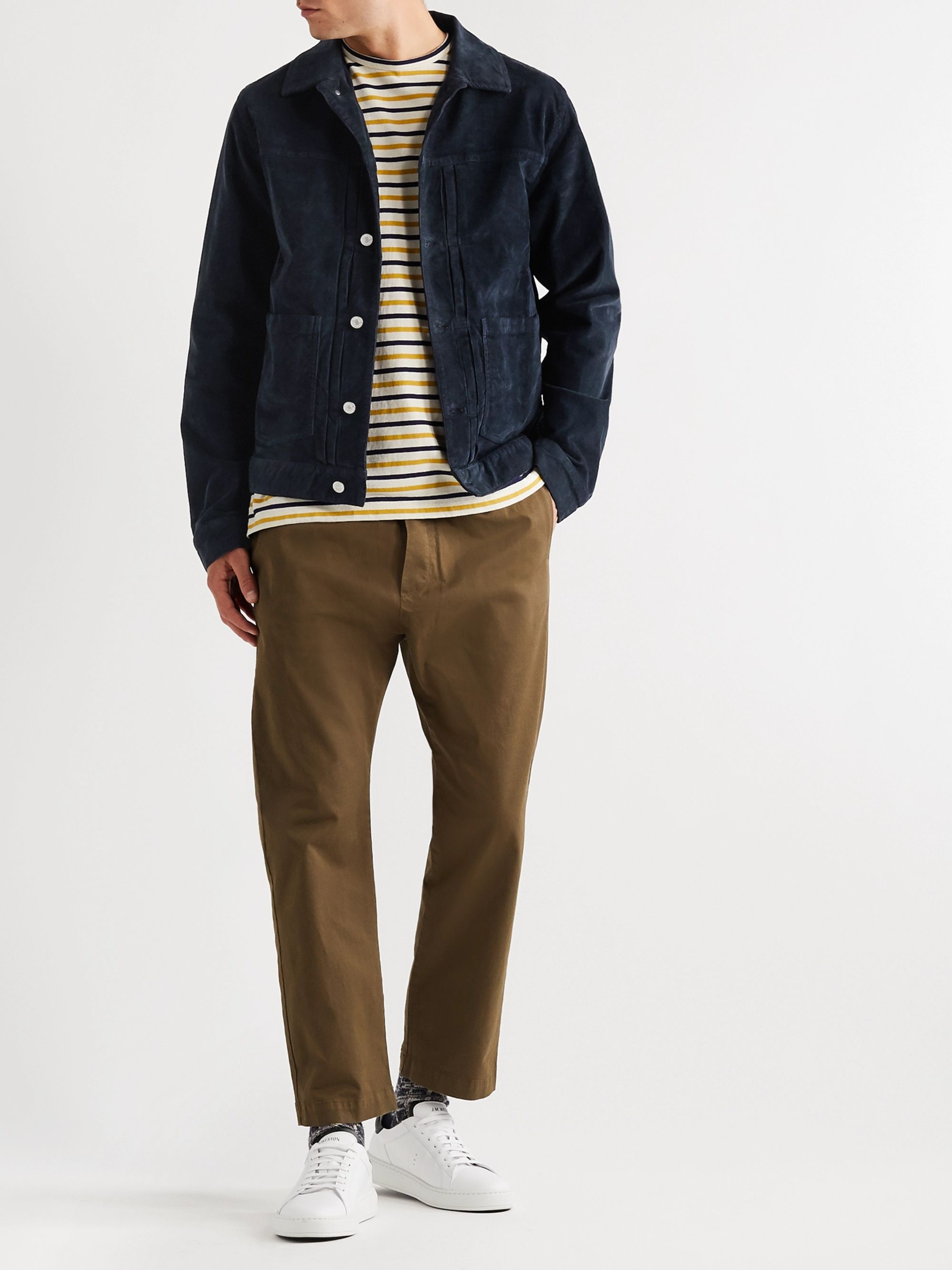Officine Générale Leo Cotton-Blend Corduroy Trucker Jacket