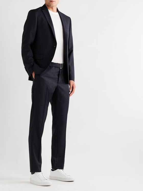 Officine Générale Paul Herringbone Wool Suit Trousers