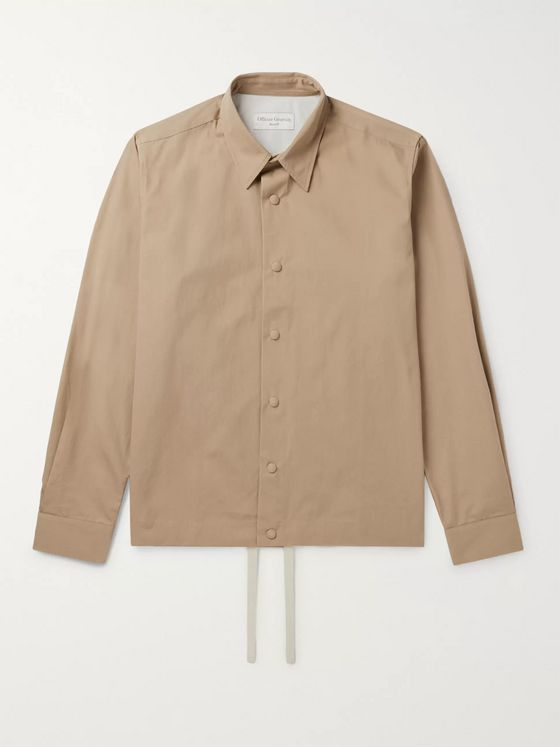 Officine Générale Stan Cotton-Twill Overshirt