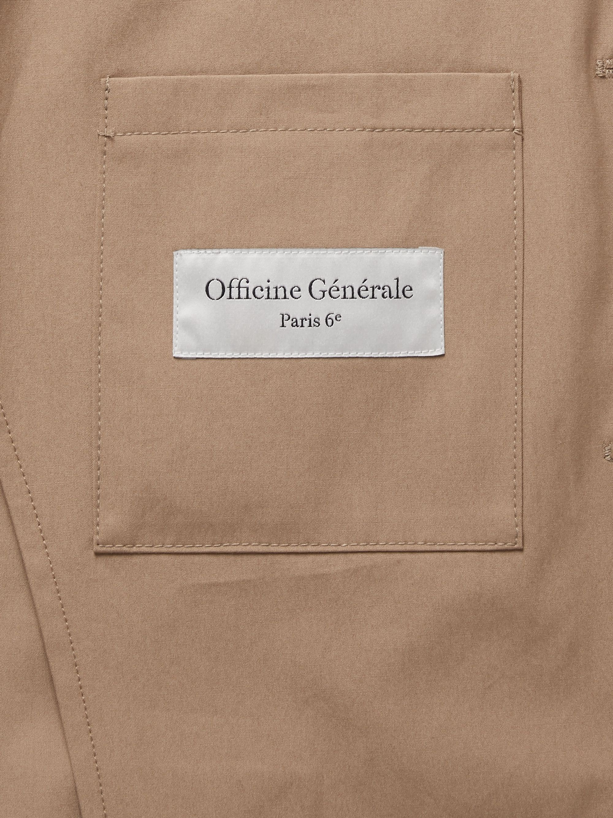 Officine Générale Armie Unstructured Cotton-Poplin Suit Jacket