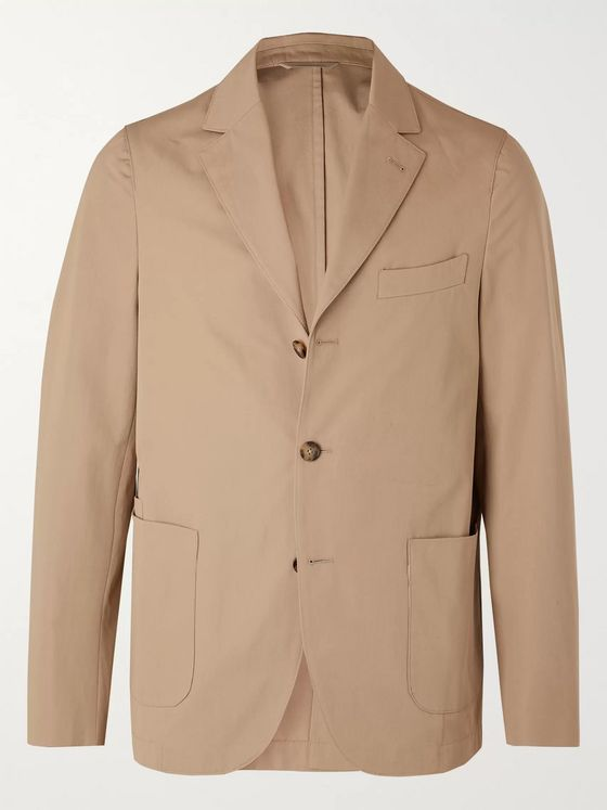 Officine Generale Armie Unstructured Cotton-Poplin Suit Jacket