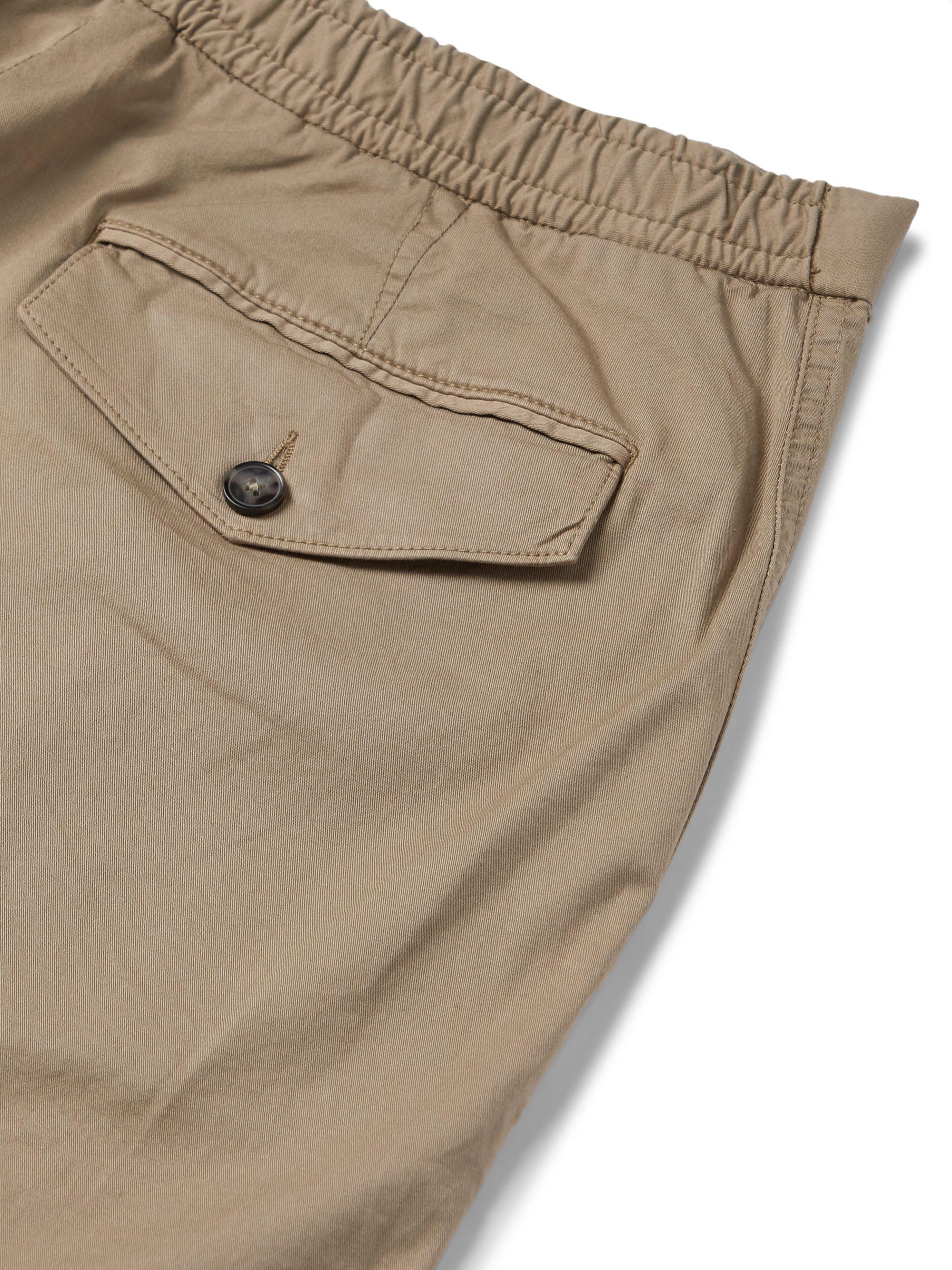 Beige Paolo Stretch-cotton Twill Cargo Trousers | Officine Générale
