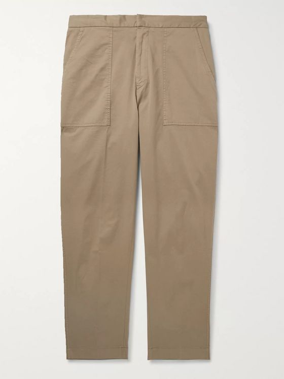 Officine Générale Paolo Stretch-Cotton Twill Cargo Trousers