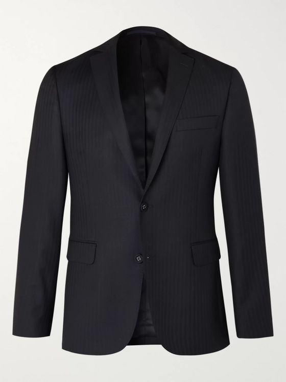 OFFICINE GÉNÉRALE Slim-Fit Herringbone Wool Suit Jacket