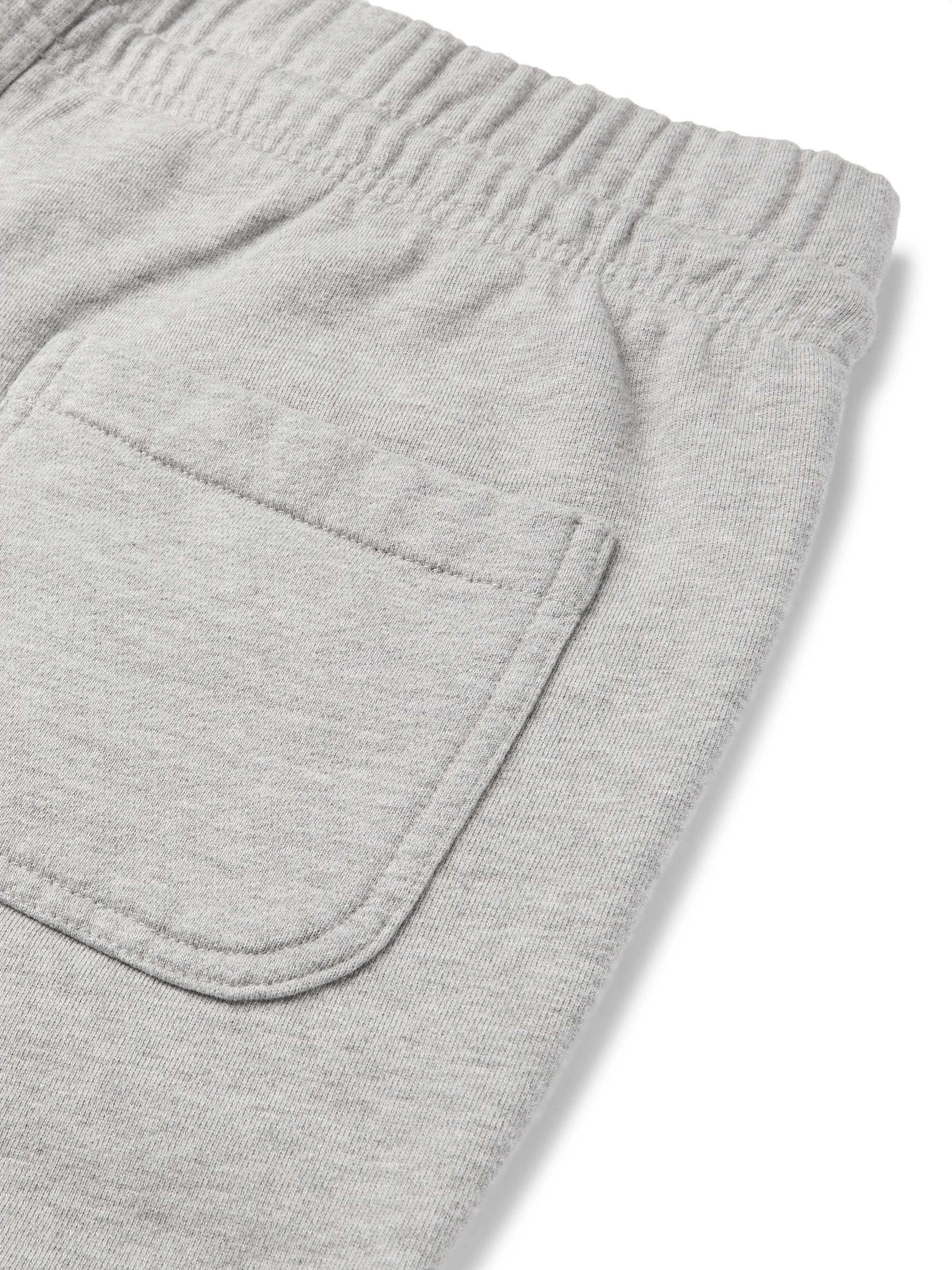 MAISON KITSUNÉ Tapered Logo-Appliquéd Loopback Cotton-Jersey Sweatpants