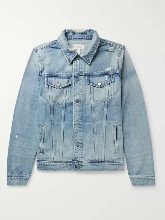 FRAME L'Homme Distressed Denim Jacket