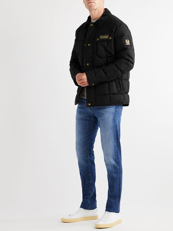 Belstaff Ranger Cotton Corduroy-Trimmed Quilted Cotton-Canvas Down Jacket