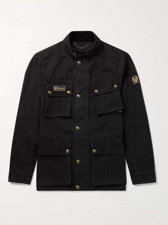 Fieldmaster Logo Appliquéd Coated Cotton Canvas Jacket