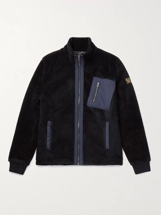 BELSTAFF Herne Shell-Trimmed Fleece Jacket
