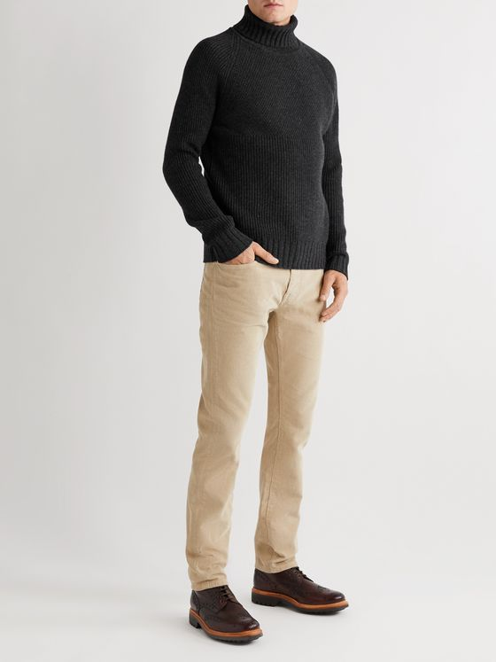 Belstaff Marine Virgin Wool Rollneck Sweater