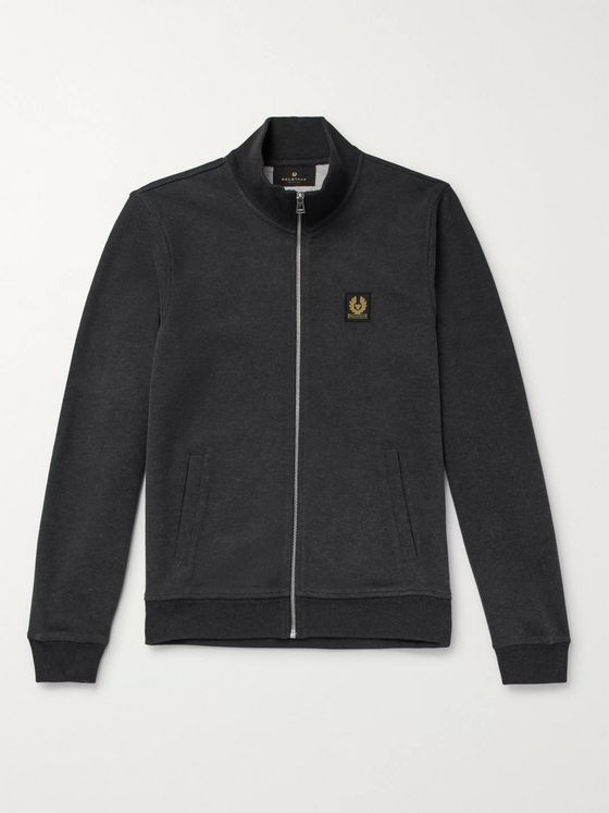 Belstaff Mélange Cotton Zip-Up Sweatshirt