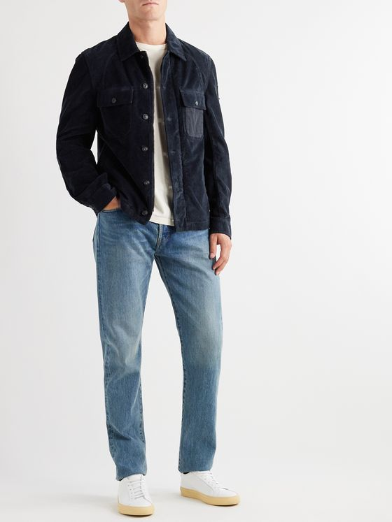 Belstaff Rake Canvas-Trimmed Cotton-Corduroy Shirt Jacket