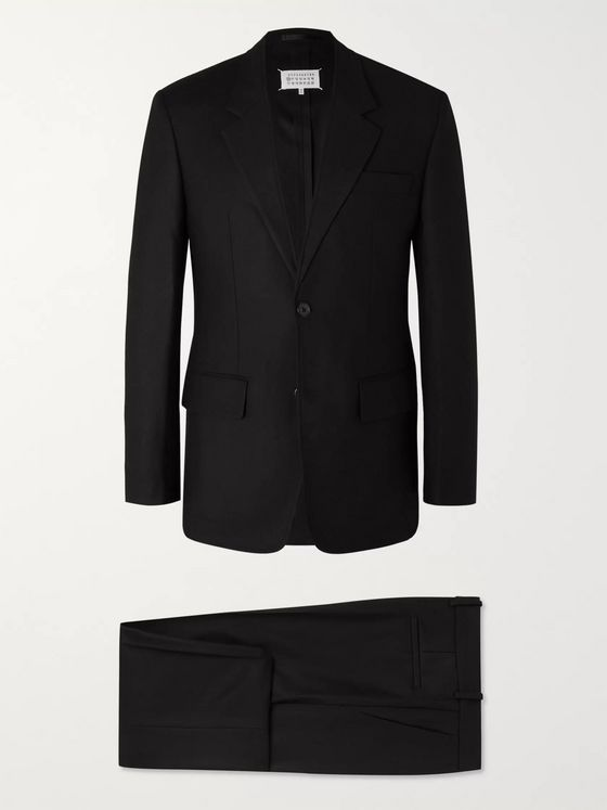 Maison Margiela Black Wool Suit