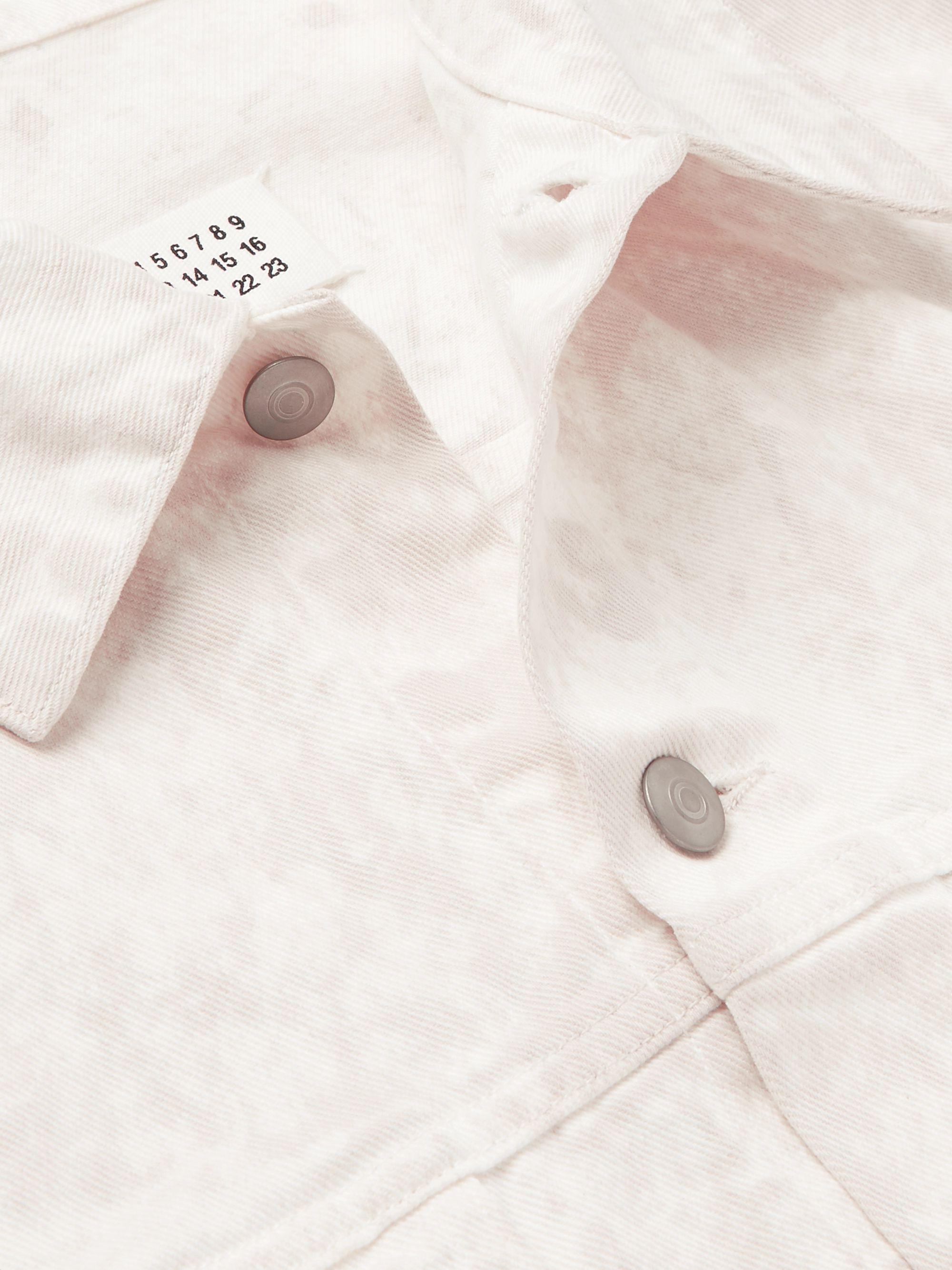 Beige Oversized Stonewashed Denim Jacket | Maison Margiela