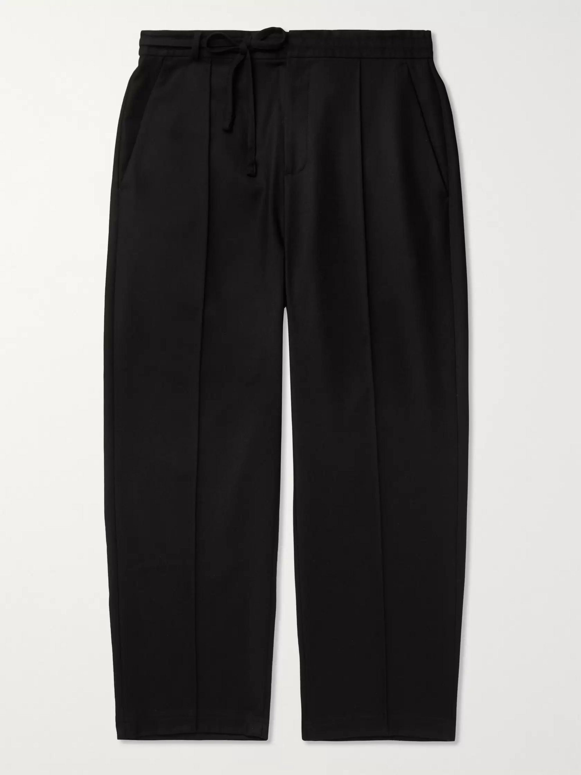 Maison Margiela Virgin Wool-Flannel Drawstring Trousers