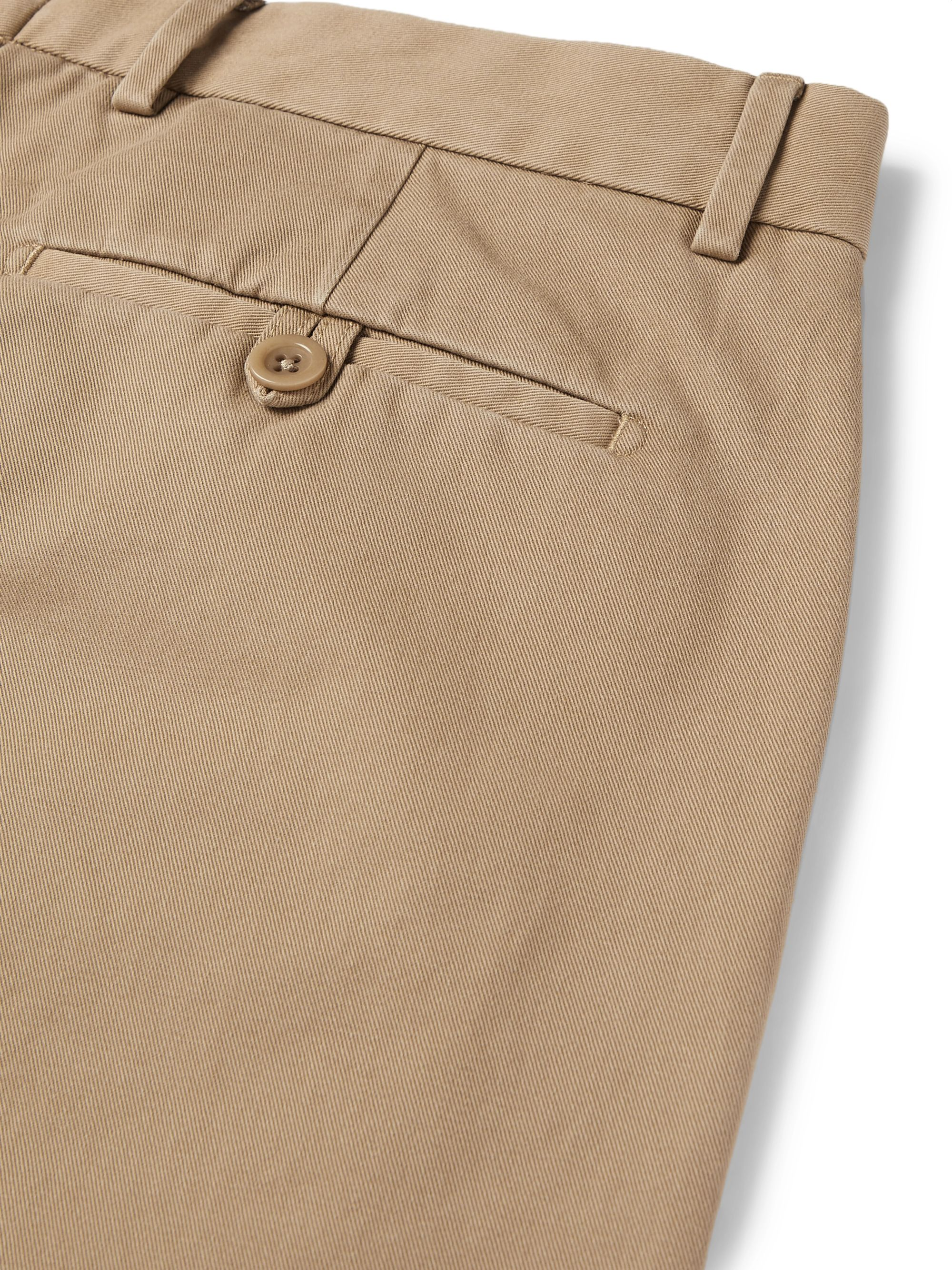 Beige Stone-washed Cotton-twill Chinos | Maison Margiela