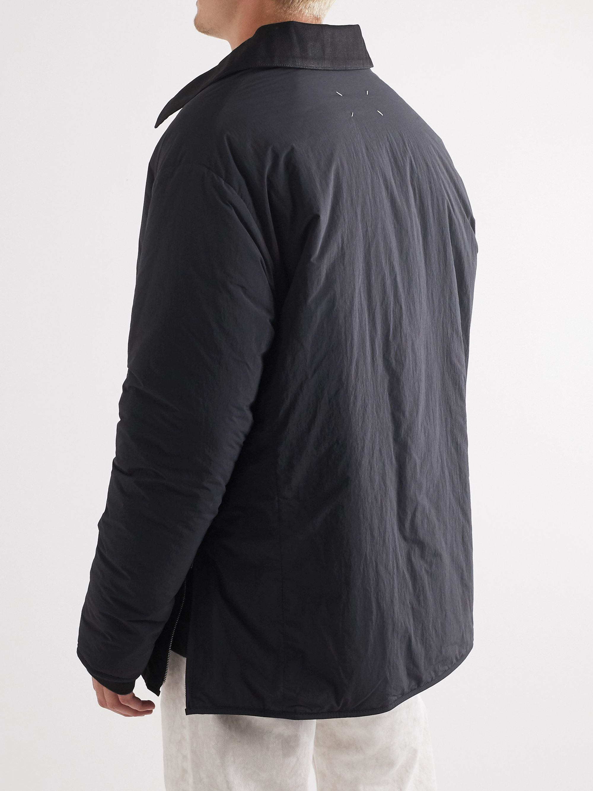 Maison Margiela Cotton-Blend Twill-Trimmed Shell Jacket
