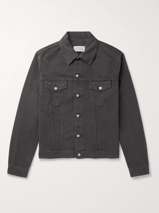 Maison Margiela Oversized Garment-Dyed Denim Jacket