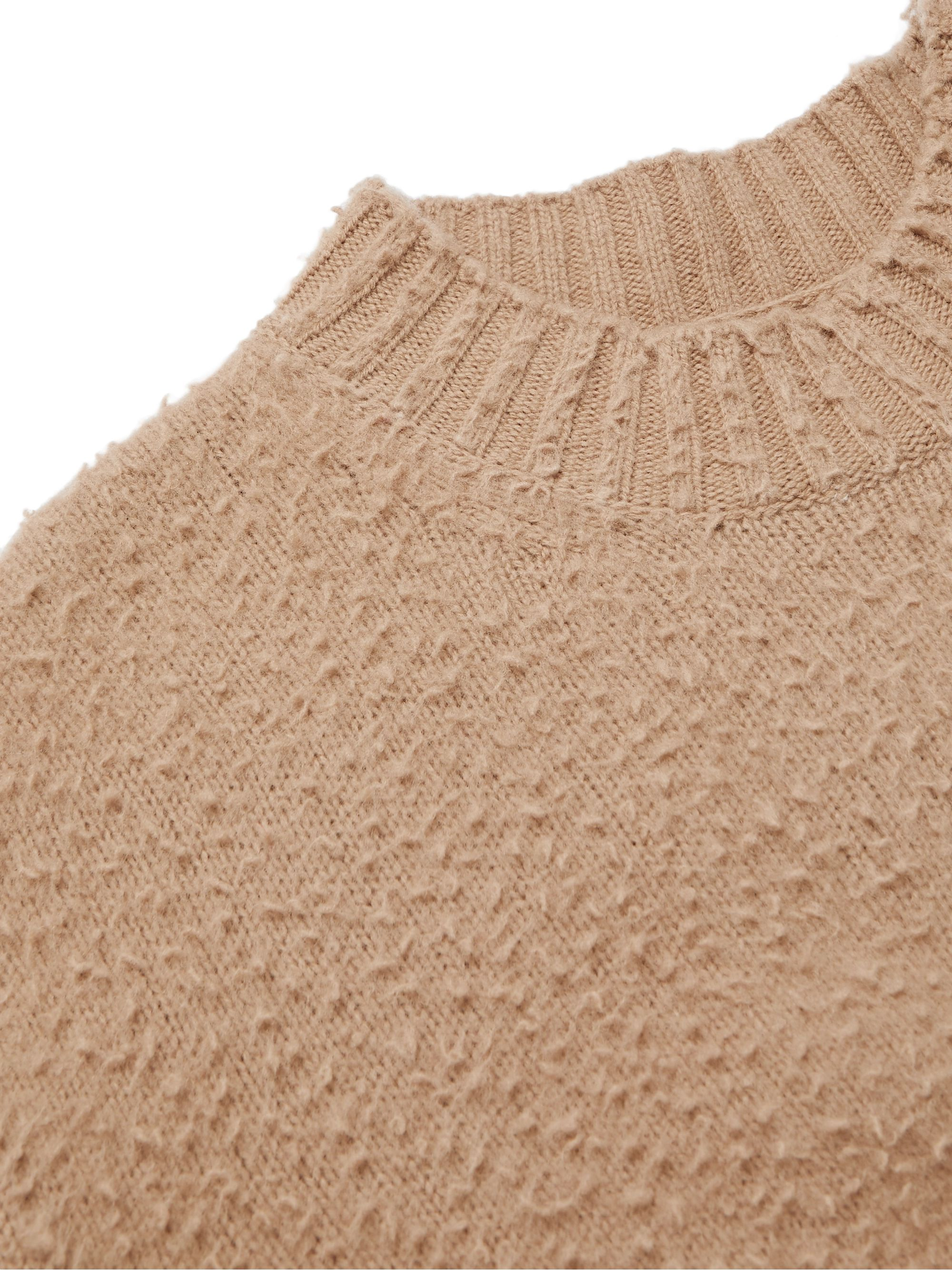 Maison Margiela Oversized Textured-Knit Wool Sweater