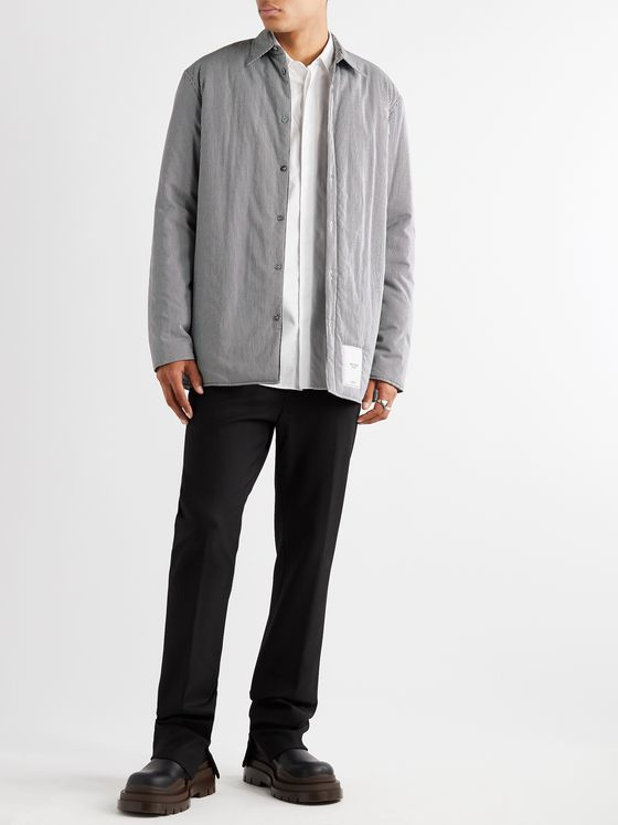 Maison Margiela Padded Checked Cotton Oxford Overshirt