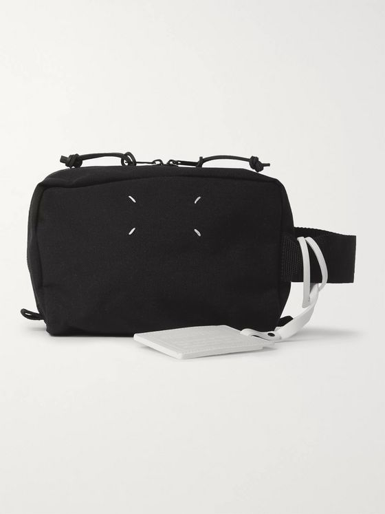 Maison Margiela Leather-Trimmed Canvas Wash Bag