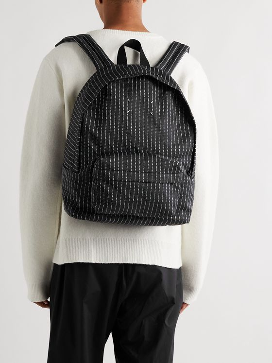 Maison Margiela Logo-Embroidered Canvas Backpack