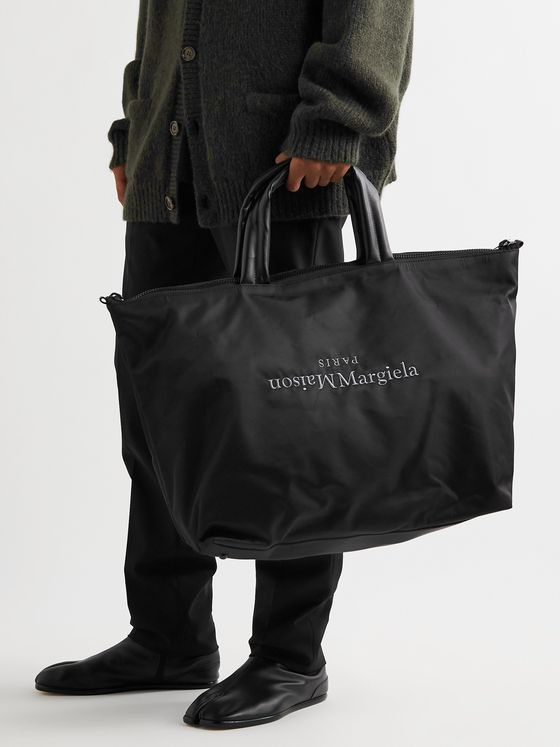 Maison Margiela Logo-Embroidered Shell Holdall