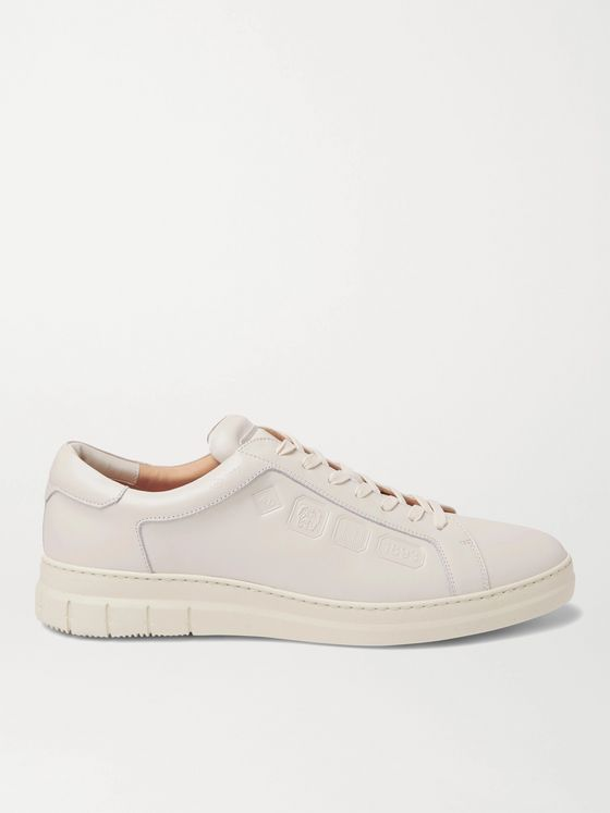 DUNHILL Hallmark Embossed Leather Sneakers
