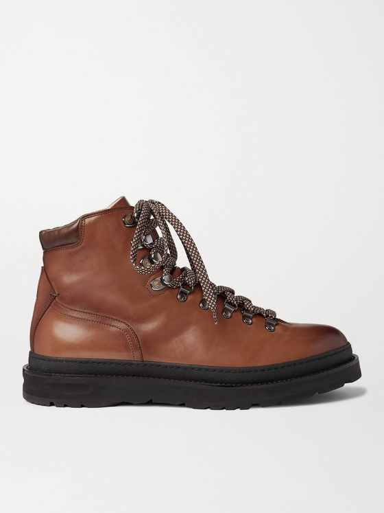 DUNHILL Traverse Burnished-Leather Boots