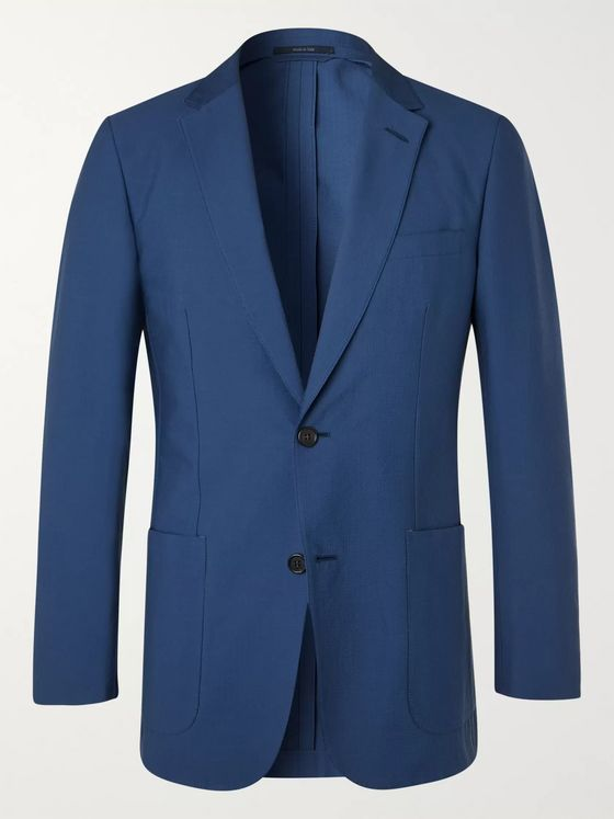 DUNHILL Slim-Fit Cotton-Blend Seersucker Blazer