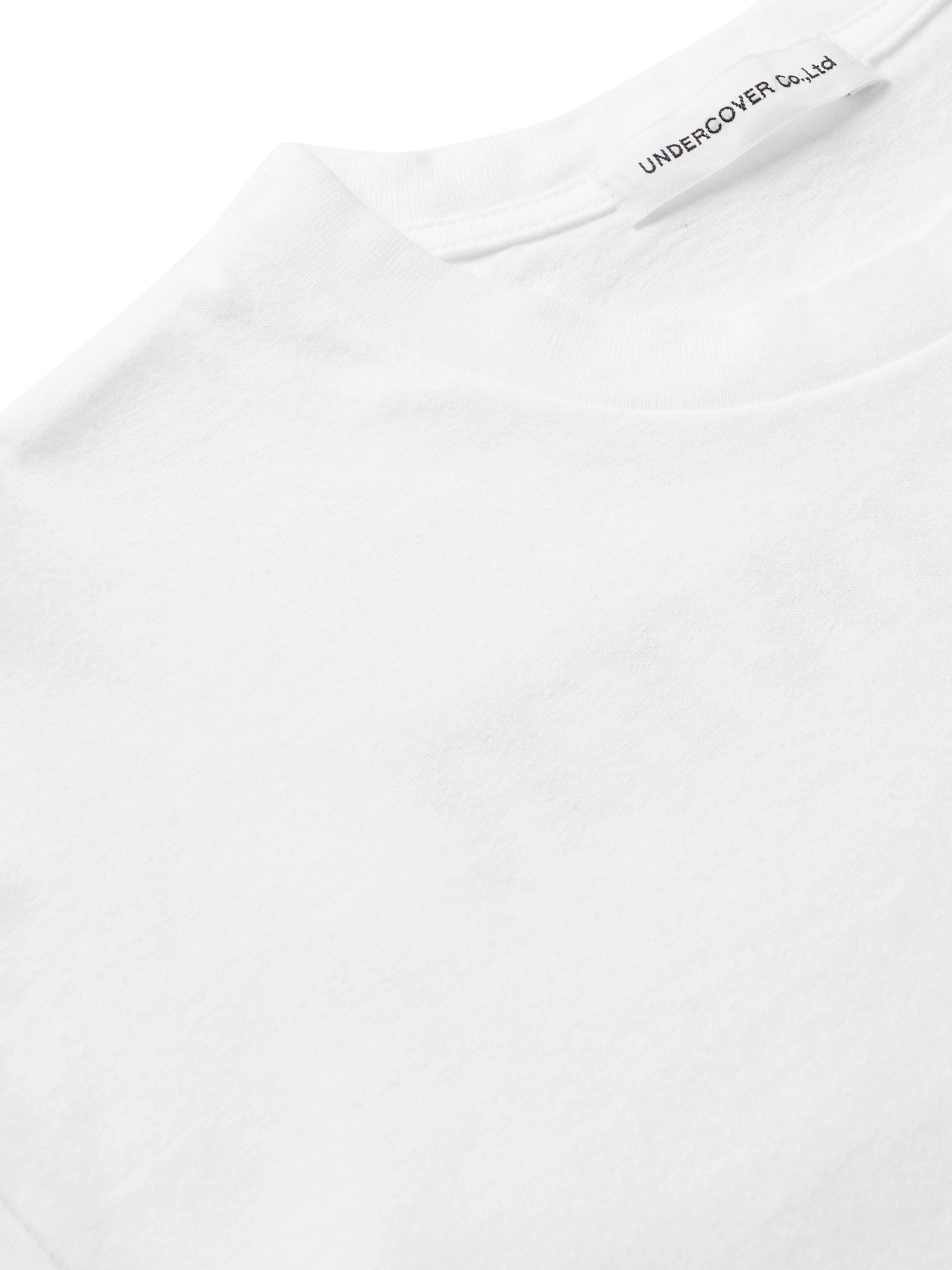 White Printed Cotton-jersey T-shirt | Undercover