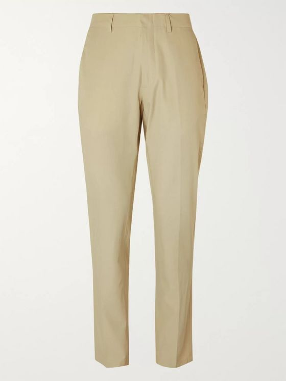 DUNHILL Slim-Fit Gabardine Trousers