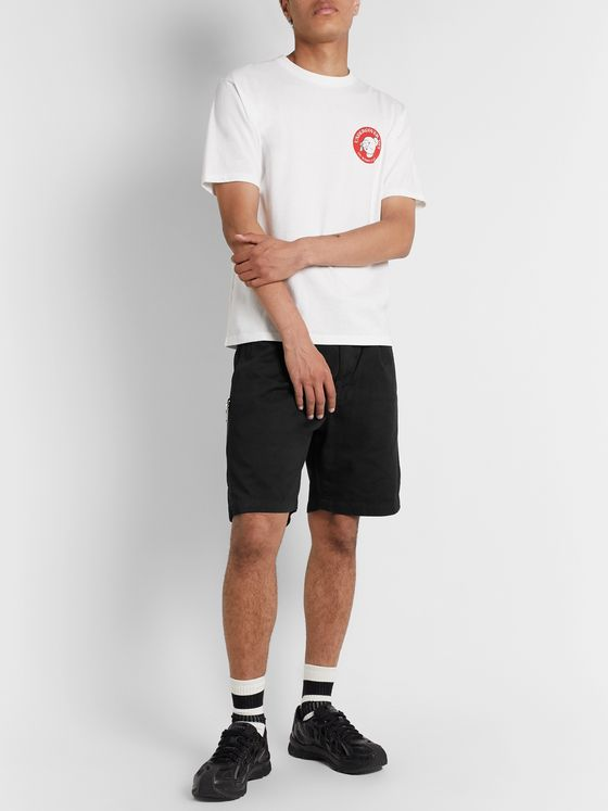 Undercover Belted Cotton-Twill Shorts
