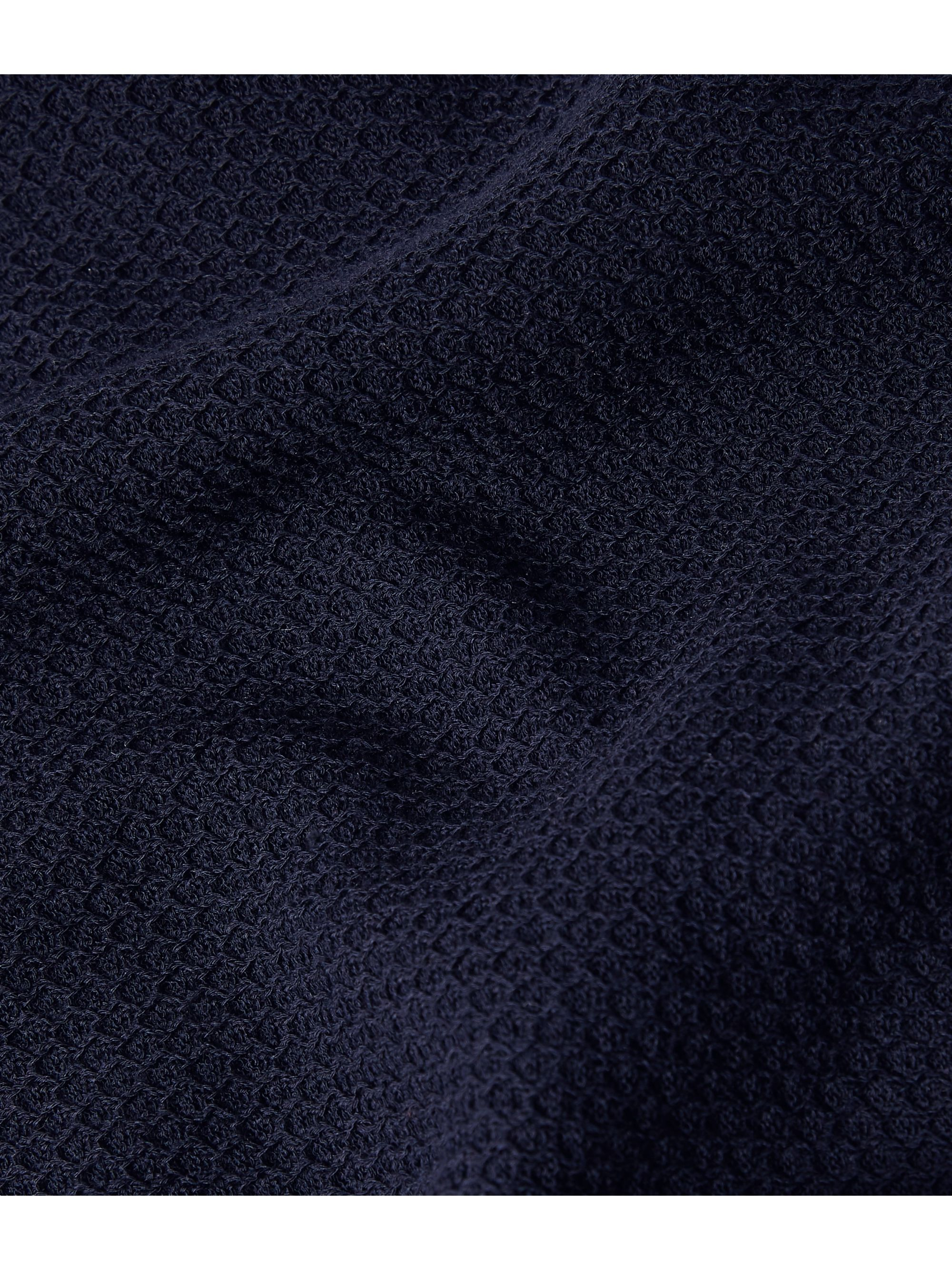 Black Contrast-tipped Textured-cotton Polo Shirt | Dunhill