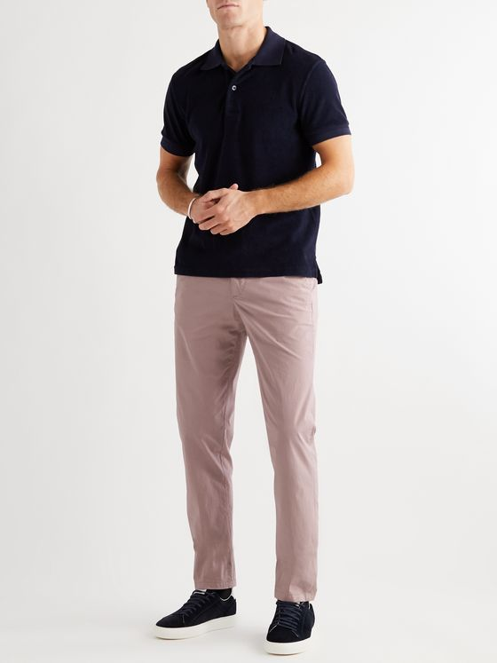 DUNHILL Slim-Fit Tapered Stretch-Cotton Twill Chinos