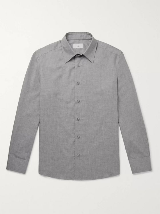 DUNHILL Cotton and Cashmere-Blend Shirt