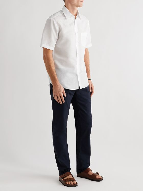 DUNHILL Linen and Cotton-Blend Shirt