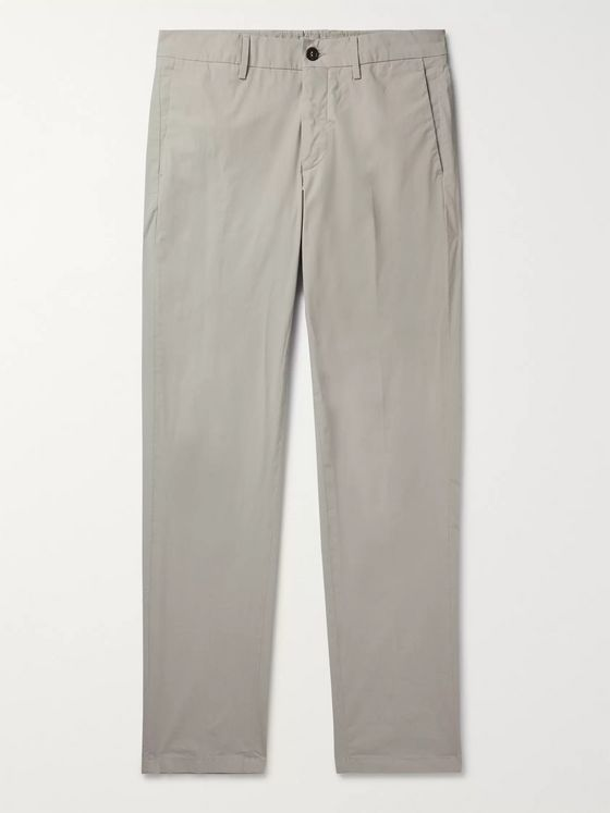 DUNHILL Slim-Fit Stretch-Cotton Chinos