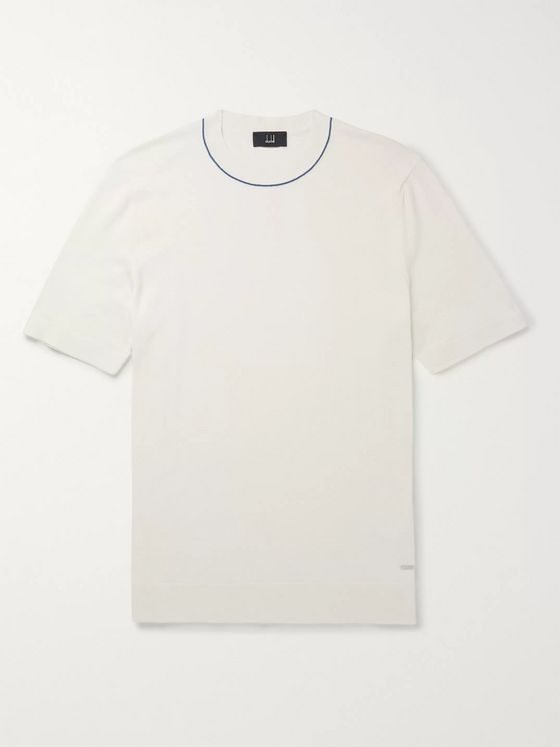 Dunhill Contrast-Tipped Cotton T-Shirt