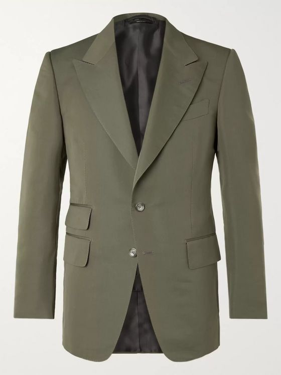 TOM FORD Shelton Slim-Fit Cotton Silk-Blend Suit Jacket